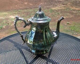 Vintage Tea Pot, Tea pot, silver tea service circa 1900, teapot by International Silver Company...