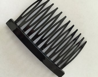 """5pc Glossy Acrylic Hair Combs  12 teeth 2 3/4"""" wide(70mm)   in Black and Brow"""