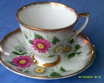 Vintage Roslyn Tea Cup and Saucer