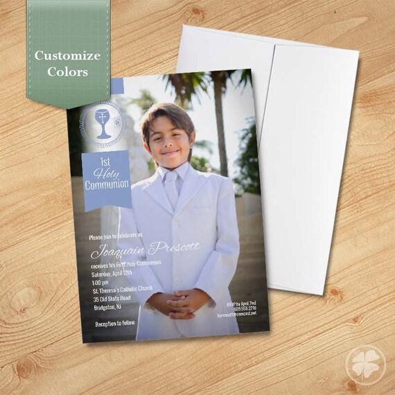 Boy's First Communion Invitations, Communion Invitations ...