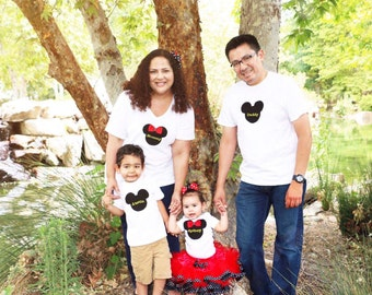 Best Price and Quality! Matching Birthday Mom Dad Shirts Embroidered, Family Disney Shirt, Minnie Mickey, Personalized Custom, Birthday Tutu