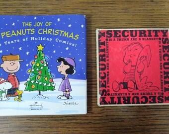 Charlie Brown books- Peanuts Christmas book- Security blanket