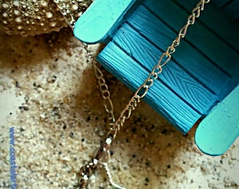 Rare authentic sea glass wired necklace