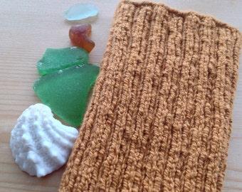 M PICC Line / IV Cover (Armband) pumpkin spice latte, brown, Carmel, sweet,intravenous, chemo, lyme, TPN, hand knit, cotton, elastic, soft,