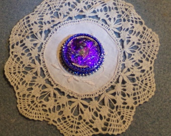 Beaded Glass Cabochon #0860