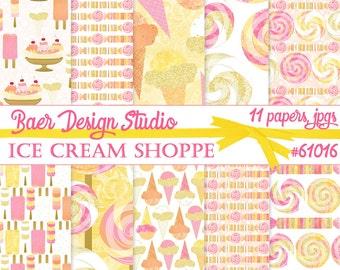 Ice Cream Digital Paper, Digital Paper Summer, Lollipop Digital Paper, Popsicle Digital Paper, Candy Digital Paper, Candy Buffet Paper