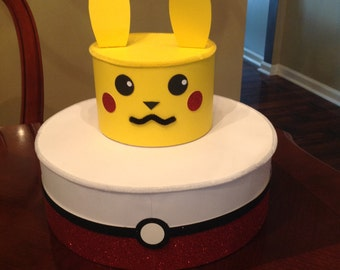 Pokemon go theme inspired Pikachu Cake Pop / Cup Cake / Stand 2 tiered