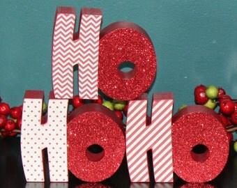 HO HO HO letter set