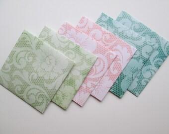 Floral and Lace Envelope set, 6 pcs