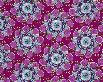 Blank Quilting - Day of the Dragonfly - Floral - Purple