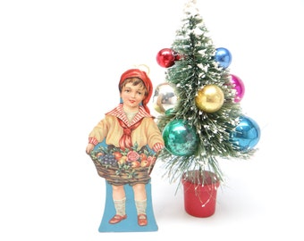 1930 Die Cut Boy Candy Container Christmas Ornament