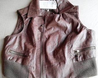 Zoe Alleyne Washburn Faux-Leather Vest