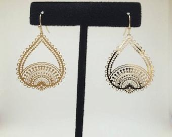 India inspired filigree earring