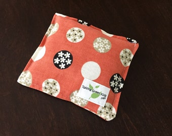 Flaxseed Filled Owie bags, Ouchie Bags, Natural Hot/Cold Therapy Packs orange flower black white