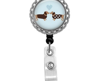 Dachshund Id Badge Reel Lanyard Name Tag Holder
