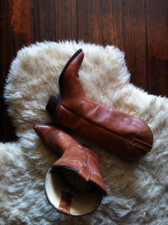 J. Chisholm Women's Cowboy Boots // Western Leather Boots // Women's size 6.5
