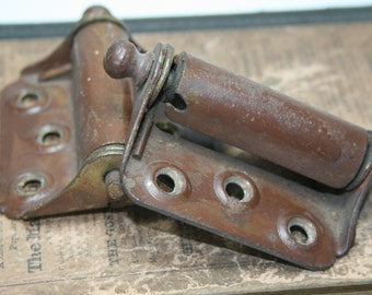 Vintage Screen Door Hinges - Brown Painted Surface