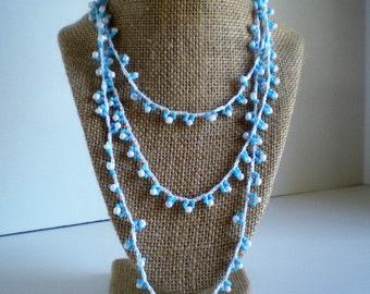 Crochet Chain & Bead Necklace