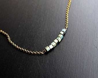 Bronze Beaded Bar Necklace FREE Shipping