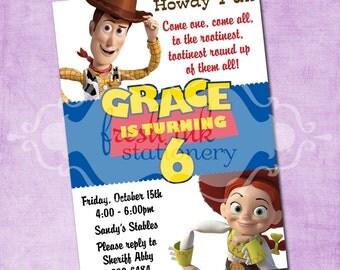 Jessie and Woody Toy Story Birthday Invite
