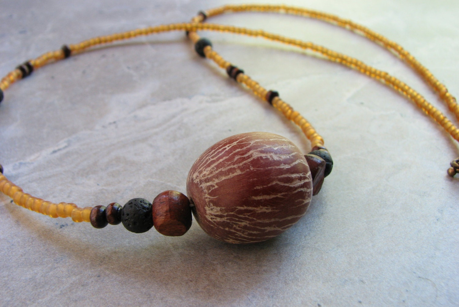 Seed jewelry betel nut palm seed necklace tropical natural for Natural seeds for jewelry making
