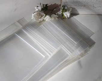 QTY 50 Zip Polypropylene Bags - 4 x 4 Inches , Ultra Clear