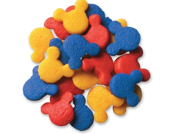 Mickey Mouse Sprinkle Quins, Primary Colors Cupcake ,Cookie Sprinkles,   Sprinkles  Baking / candy
