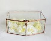 Glass Envelope Holder, Glass Box, Wedding Card Box, Wedding Gift, Gift For Her, Gift For Girlfriend, Jewelry Box, Display Box. Made to Order