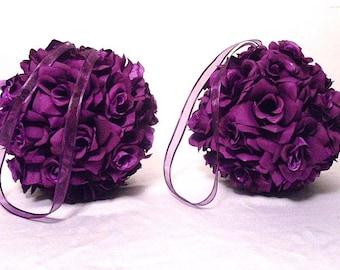Kissing Ball, Flower Balls, Pomander Balls, Wedding Decorations, Bridesmaid Bouquet, Wedding Bouquet