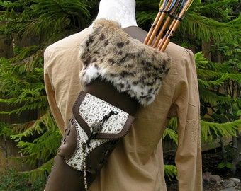 """Archery Arrow Back Quiver with matching Armguard """"Artemis"""" by MYSTIC QUIVERS- In Stock"""