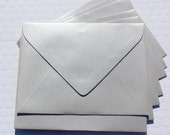 Metallic Silver Envelope Set A7, Pointed Flap, 5 x 7 Invitations, Wedding, Baby Shower, Party Stationery (SSHIMMERILE)