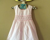 Vintage ninties girls heart smocked dress 18-24 months
