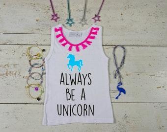 Unicorn Tshirt Girl, Unicorn Tshirt, Baby Unicorn, Girl Clothes, Always Be A Unicorn