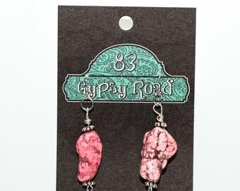 E119 - Pink Magnesite Earrings