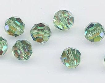 24 gorgeous Swarovski crystals - art 5000 - 6 mm - erinite AB