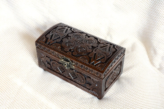 lock jewelry box ring box wooden box wedding ring by sokoly