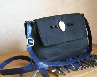 Minimal Messenger Bag With Button Detailing