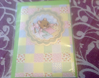 Any Occasion Card Mousey Patchwork All Ages