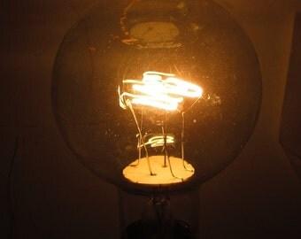 Antique Light Bulb Large Copper High Wattage Incandescent
