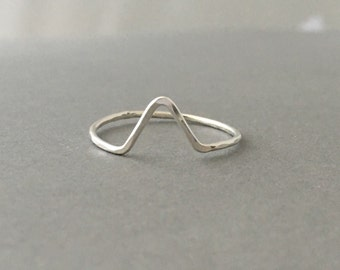 Gold Fill Mountain V Ring also in Rose Gold and Silver