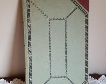 Vintage Blank Lined Notebook CLoth Antique Ledger Diary Guest Book 1960's Office Supply