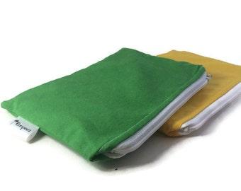 Solid Color Reusable Snack Bag Bundle - you choose colors - 2 bags | Sandwich Bag Bundle | Set of Snack Bags | Bundle of Snack Bags