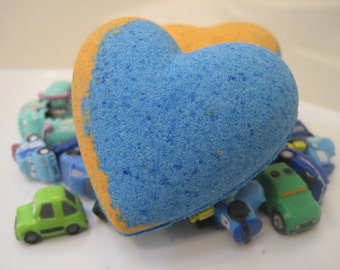LIMITED TIME ONLY - Heart shaped bath bomb with car toy inside