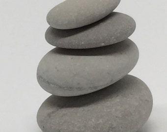 Meditation Stones / Wooden Zen Stones / Wooden Gemstones natural  | 4 small Stones Stack size: 2,5 x 3,0 x 2,8 cm (bxhxs) approx. 26 gr.