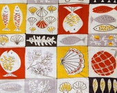Vintage Fabric, 1950's Fabric, Novelty Print, Fish Design, NOT Reproduction, UK Seller