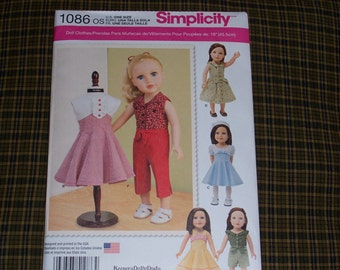 Simplicity 1086..American Girl Doll Pattern..18 Inch Doll Pattern....Cute New 2015 Patterns..