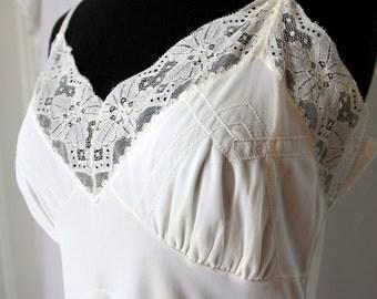 Vintage Full Slip White
