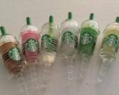 Starbucks Frappuccino Coffee Drink Dust Plug Cover for Cell Phone-3.5mm Smart Phone Plug - Headphone Jack Charm