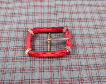 Fancy Red Vintage Buckles