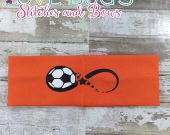 3 Inch Soccer Infinity Headband
